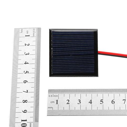 Immagine di 0.25W 5V 45*45mm Mini Polysilicon Solar Panel Epoxy board with Wire