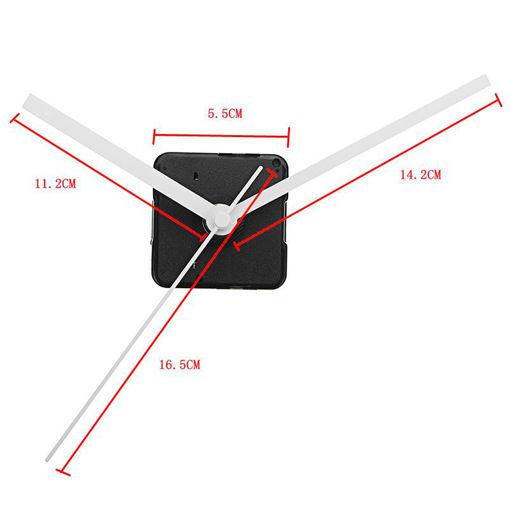 Picture of 20mm Shaft DIY White Hands Quartz Movement Silent Mechanism Wall Clock Repair Parts