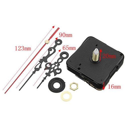 Picture of 20mm Shaft Length DIY Silent Quartz Clock Movement Mechanism Replacement Repair Kit