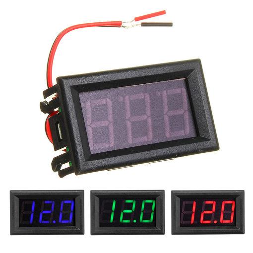 Immagine di 0.56 Inch Mini Digital Voltmeter DC 4.5V To 30V Digital Voltmeter Voltage Panel Meter For 6V 12V 24V Electromobile Motorcycle Car