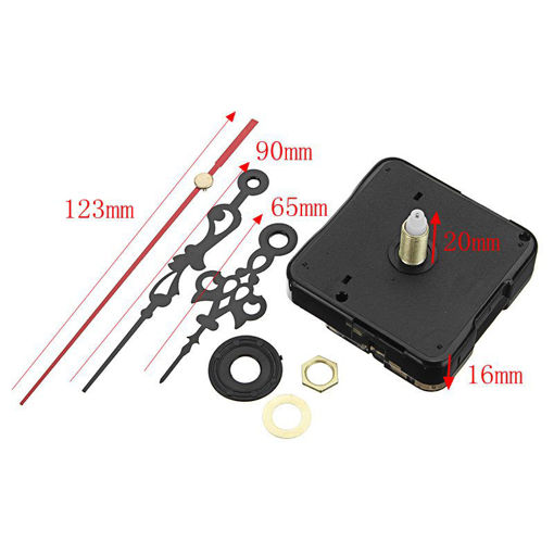 Picture of 10Pcs 20mm Shaft Length DIY Silent Quartz Clock Movement Mechanism Replacement Repair Kit