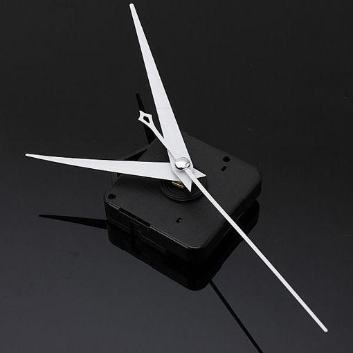 Picture of 10Pcs DIY White Triangle Hands Quartz Black Wall Clock Movement Mechanism