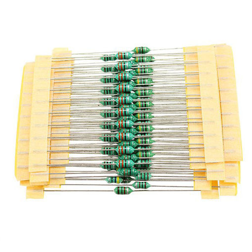 Picture of 1/4W 1UH-1MH 1200pcs 12 Values 0307 Color Ring Inductor Pack Color Code Inductor 100pcs Each Value