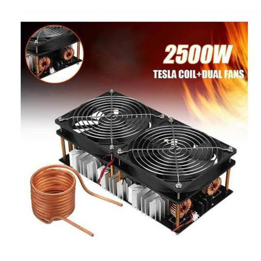 Immagine di High frequency induction heating 2500W high power high frequency machine high frequency quenching intermediate frequency furnace without tap zvs