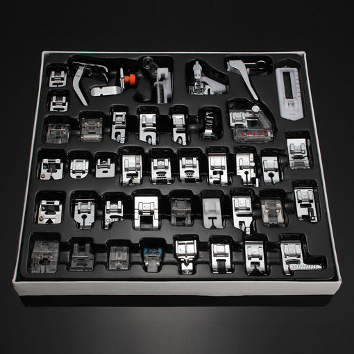 Immagine di 42 PCS Domestic Sewing Machine Foot Presser Feet Kit Sewing Machine Accessories