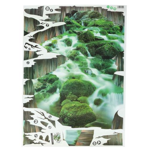 Immagine di 3D Stream Floor Decor Wall Sticker Removable Mural Decals Vinyl Art Home Decoration