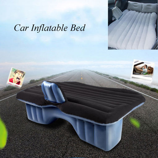 Immagine di Inflatable Car SUV MPV Back Seat Mattress Air Folding Bed Rest Sleeping Camping +Pillows