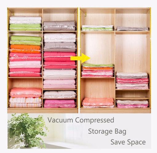 Immagine di KCASA Vacuum Compress Bag Vacuum Storage Bag Save Space Saving Seal Quilts Clothes Holder Organizer