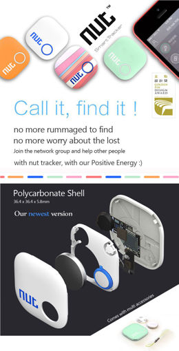 Picture of Mini Smart Patch Alarm Tag Bluetooth Nut 2 Tracker Locator Anti Lost Key Finder For iPhone Android etc