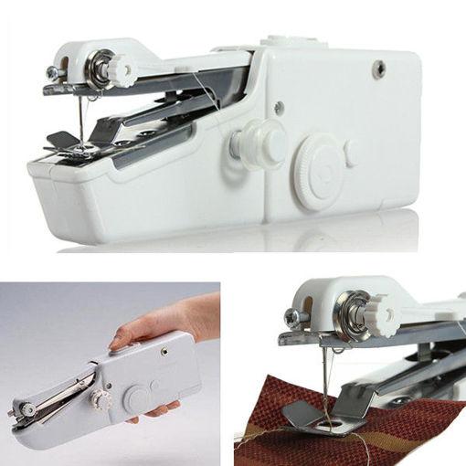 Immagine di Loskii BX-215 Portable Mini Electric Handheld Sewing Machine Travel Household Cordless Stitch