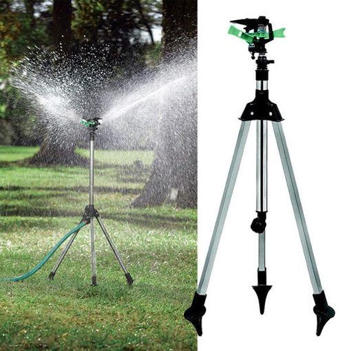 Immagine di 1/2 Inch Garden Lawn Plant Watering Telescopic Tripod Sprinkler Irrigation Kits