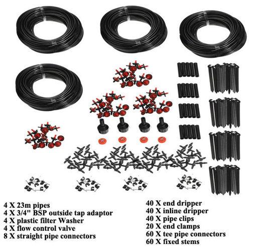 Immagine di 92m Garden Micro Drip Irrigation System Atomization Micro Sprinkler Cooling Kit