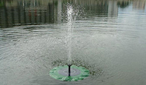 Immagine di Solar Floating Lotus Leaf Fountain Water Pump Garden Pond Decoration