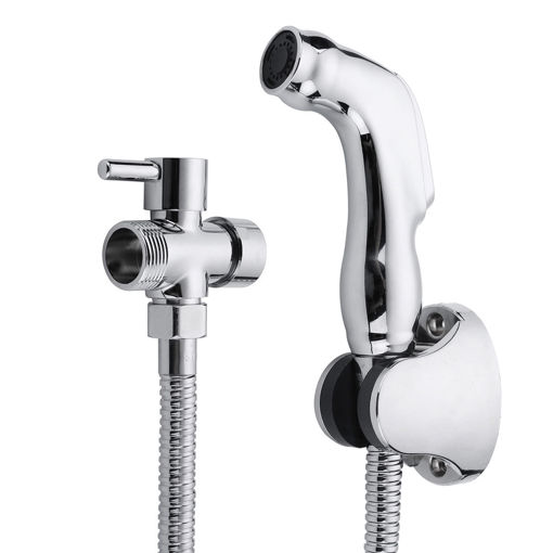 Immagine di Hand Held Bidet Shattaf Wash Toilet Shower Head Set Bathroom Adapter Spray Jet