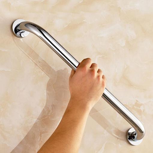 Immagine di Stainless Steel Bathroom Wall Grab Bar Safety Grip Handle Towel Rail Shelf