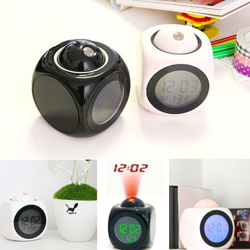 Picture of Multifunction LCD Talking Projection Alarm Clock Time & Temp Display