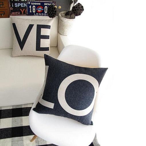 Immagine di Linen Love Sofa Waist Throw Pillow Case Cushion Cover Home Decor