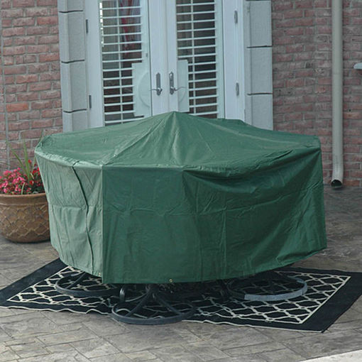 Immagine di 95x140cm Garden Outdoor Furniture Waterproof Breathable Round Dust Cover Table Shelter