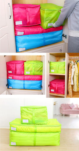 Immagine di Portable Quilts Storage Bags Packing Luggage Folding Storage Box Clothes Organizer Bags Home Storage