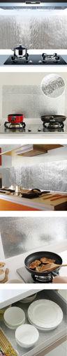 Immagine di Kitchen Aluminum Film Oil Sticker Self Adhesive Anti Oil Kitchen Cabinet Adhesive Wallpaper