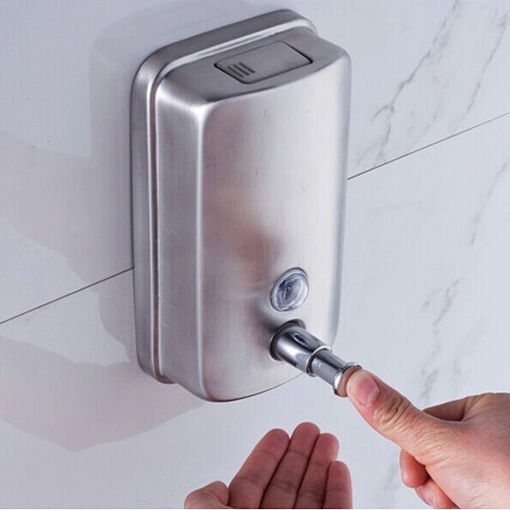 Immagine di Wall-mounted Soap Dispenser Stainless Steel Liquid Soap Box