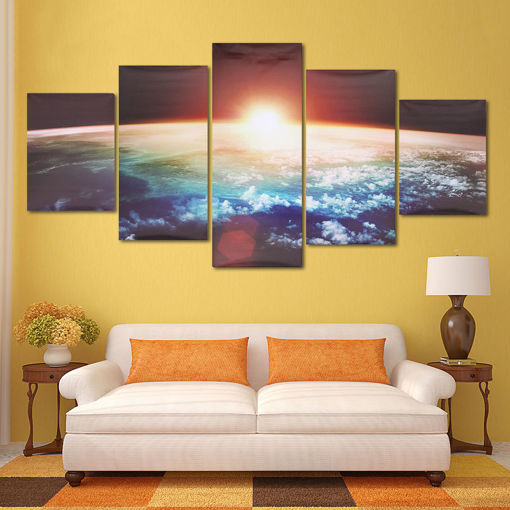 Immagine di 5 Cascade Sunrise Earth Canvas Wall Painting Picture Home Decoration No Framed