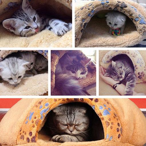 Immagine di Soft Warm Cat Dog Kitten Cave Pet Mat