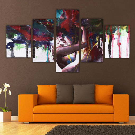 Immagine di 5Pcs Abstract Couple Canvas Print Paintings Pictures Home Wall Art Decor Unframed