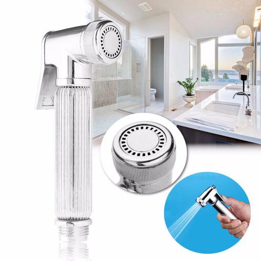 Immagine di G1/2 Chrome Multifunction Hand-held Shower Head Toilet Bidet Shattaf Water Spray Wash