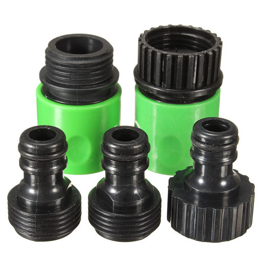 Immagine di 5Pcs Rubber Hose Water Faucet Tap Adapter Rubber Nozzle Washing Pipe Quick Connector Set Kit