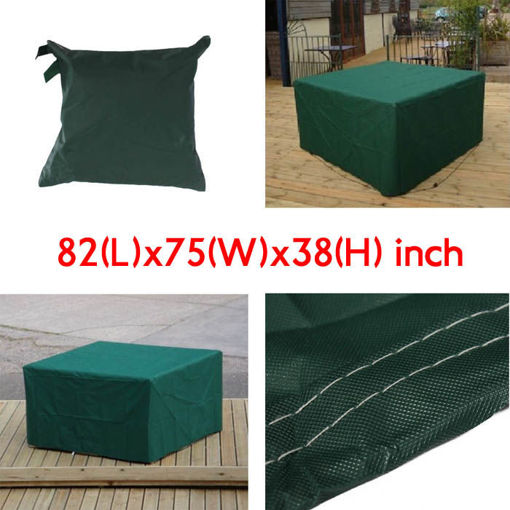 Immagine di 210x193x97cm Garden Outdoor Furniture Waterproof Breathable Dust Cover Table Shelter