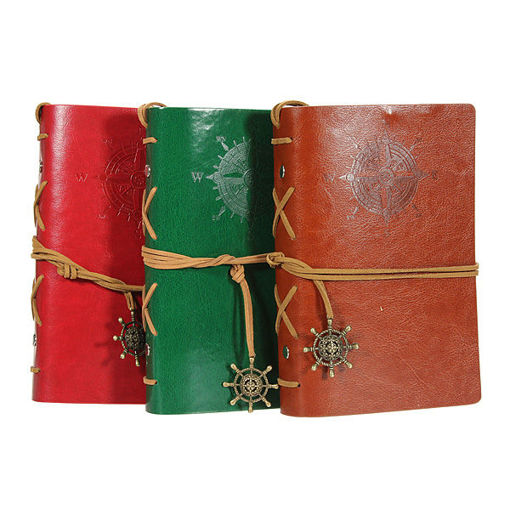 Immagine di Classic Retro Vintage Leather Journal Notebook Diary Book