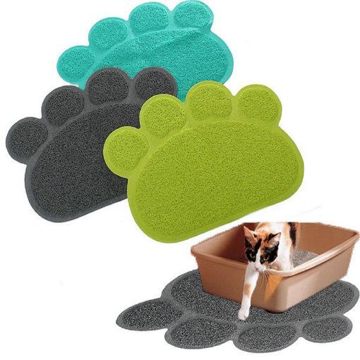 Immagine di Pet Dog Puppy PVC Cat Dish Bowl Feeding Food Placemat Mat Wipe Clean
