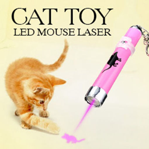 Immagine di Pet Cat Play Toy LED Laser Pointer Light with Bright Mouse Animation