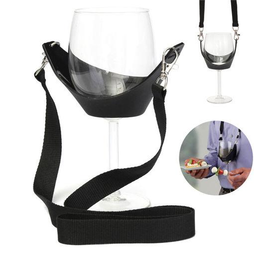 Immagine di Portable Wine Glass Holder Strip Birthday Party Wine Holder Multifunction Bar Tool