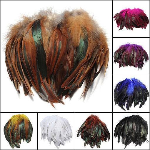 Immagine di 100pcs Fluffy Fashion Rooster Feather Craft DIY 6-8