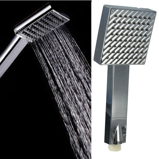 Immagine di Chrome Polished Silver Square Handheld Shower Head Water Saving
