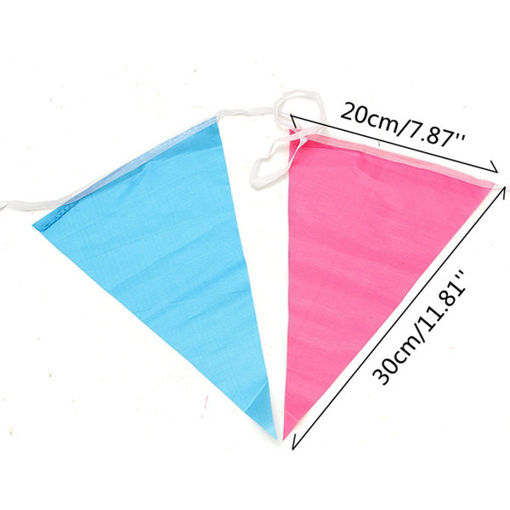 Immagine di 80m Triangle Assorted Color Pennant Flags String Banner Buntings Birthday Decor