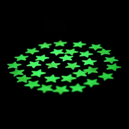 Immagine di Honana DX-010 100PCS 3CM Fluorescent Glow Star Wall Sticker Decor Sticker