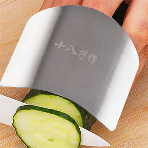 Immagine di Stainless Steel Finger Guard Safe Protector Chop Helper