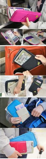 Immagine di Honana HN-PB7 Portable Multifunctional Travels Card Ticket Passport Holder Wallet Purse Storage Bag