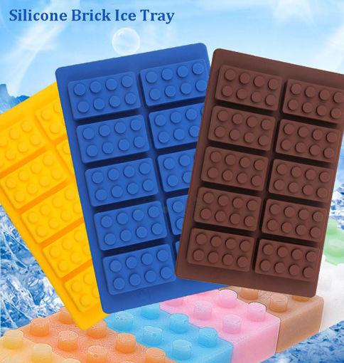 Immagine di Brick Pattern Silicone Ice Cube Jelly Tray Maker Chocolate Mold