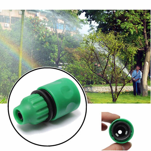 Immagine di 3/8 Inch Garden Water Hose Fast Joint Plastic Spray Nozzle Connector Fitting