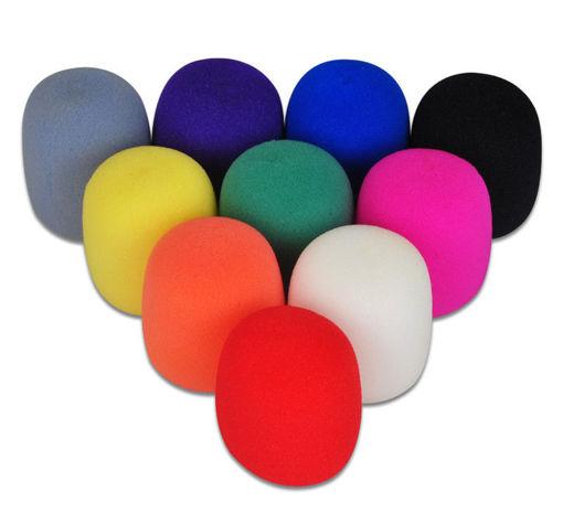 Immagine di 1Pair Randomly Color Musician's Gear Microphone Windscreen Black Foam