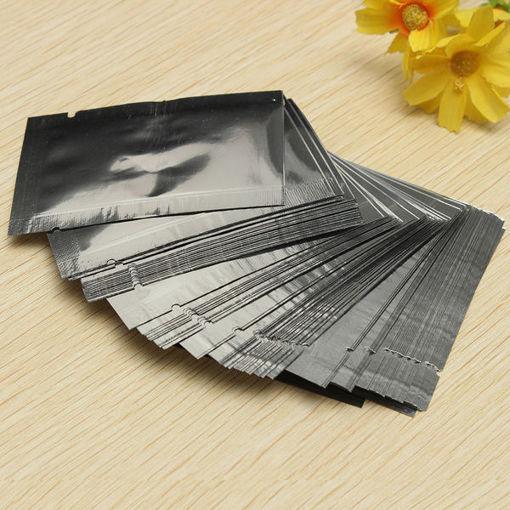Immagine di 100pcs Silver Aluminum Foil Vacuum Bags Package Food Vacuum Sealed Bag