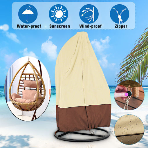 Immagine di Durable Waterproof Outdoor Hanging Egg Swing Chair Covers Dust-Proof Protector