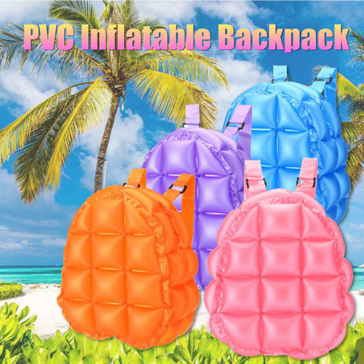 Immagine di Inflatable Bubble Blow Up Backpack 90s Retro Rave Festive Bopping Spice Girls Space Bags