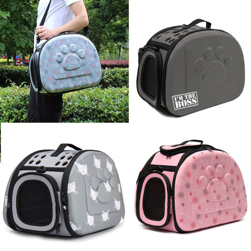 Immagine di Portable Pet Small Dog Cat Sided Carrier Travel Tote Shoulder Bag Cage Kennel Bag