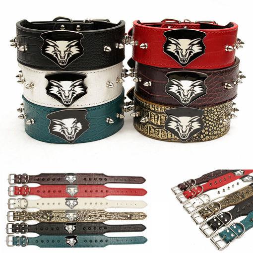 Immagine di PU Leather Adjustable Pet Collar