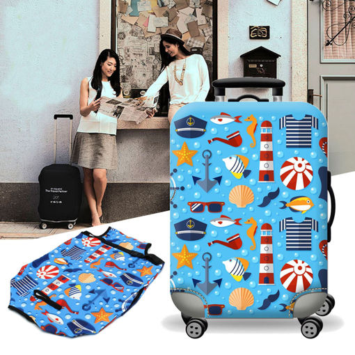 Immagine di Elastic Luggage Suitcase Cover Dustproof Protector Protective Bag